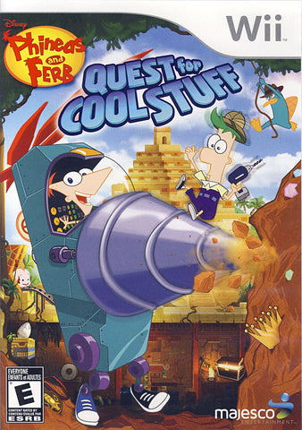 Phineas and Ferb - Quest for Cool Stuff (Bilingual Cover) (NINTENDO WII) NINTENDO WII Game