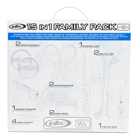 Intec 15-in-1 Family Pack (NINTENDO WII) NINTENDO WII Game