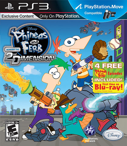 Phineas and Ferb - Across the 2nd Dimension (Playstation Move) (PLAYSTATION3) PLAYSTATION3 Game