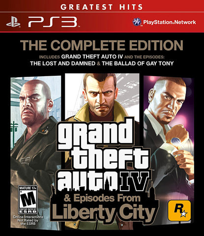 Grand Theft Auto IV - Complete (Bilingual Cover) (PLAYSTATION3) PLAYSTATION3 Game