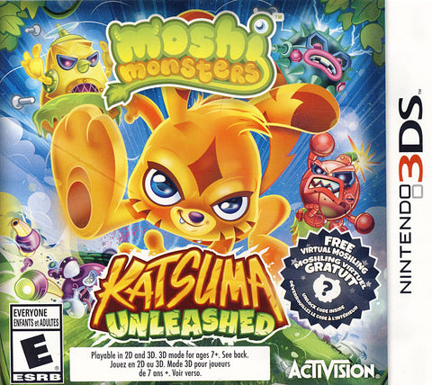 Moshi Monsters - Katsuma Unleased (Bilingual Cover) (3DS) 3DS Game