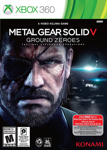 Metal Gear Solid V - Ground Zeroes (Trilingual Cover) (XBOX360) XBOX360 Game