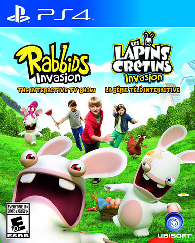 Rabbids Invasion - The Interactive TV Show (Trilingual Cover) (PLAYSTATION4) PLAYSTATION4 Game