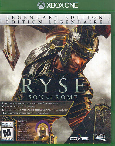 Ryse - Son Of Rome (Legendary Edition) (Bilingual Cover) (XBOX ONE) XBOX ONE Game