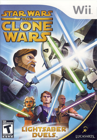 Star Wars The Clone Wars - Lightsaber Duels (Bilingual Cover) (NINTENDO WII) NINTENDO WII Game