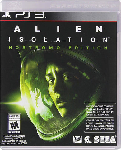 Alien Isolation - Nostromo Edition (PLAYSTATION3) PLAYSTATION3 Game