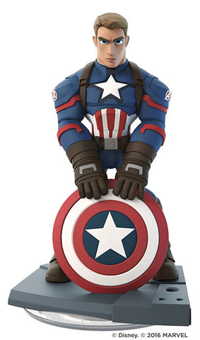 Disney Infinity 3.0 - Marvel Battleground - Captain America First Avenger (Loose) (Toy) (TOYS) TOYS Game