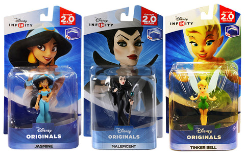 Disney Infinity - Jasmine / Maleficent / Tinker Bell Bundle (3-Pack) (Toy) (TOYS) TOYS Game