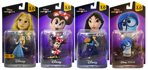 Disney Infinity 3.0 - Alice / Minnie Mouse / Mulan / Sadness Bundle (4-Pack) (Toy) (TOYS) TOYS Game