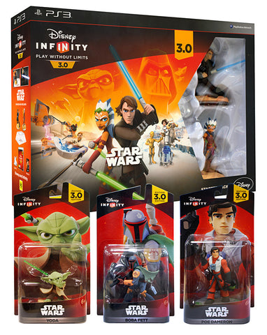 Disney Infinity 3.0 - Star Wars Gift Bundle 4-Pack (Toy) (PLAYSTATION3) PLAYSTATION3 Game