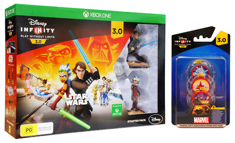 Disney Infinity 3.0 - Star Wars Starter Pack + MARVEL Battlegrounds Power Disc Pack (EU) (Toy) (XBOX ONE) XBOX ONE Game