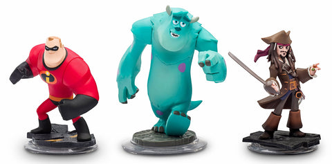 Disney Infinity Toy Box Challenge 3-Pack Character Bundle (Jack Sparrow, Mr Incredible, Sully) (Toy) (TOYS) TOYS Game