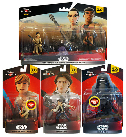 Disney Infinity 3.0 - Star Wars Force Awakens Playset Bundle (4-Pack) (Toy) (TOYS) TOYS Game