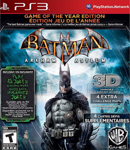 Batman Arkham Asylum - Game of the Year (Bilingual Cover) (PLAYSTATION3) PLAYSTATION3 Game