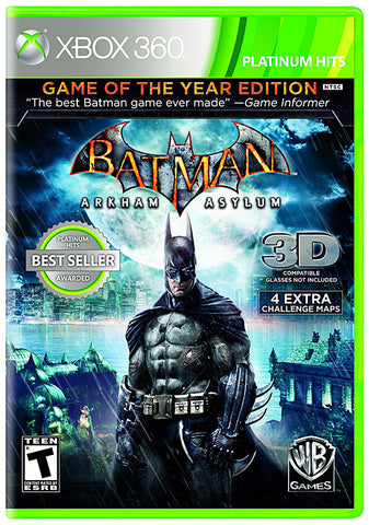 Batman Arkham Asylum - Game of the Year (Bilingual Cover) (XBOX360) XBOX360 Game