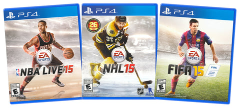 EA Sports Value Pack: NBA Live 15 / NHL 15 / FIFA 15 (3-Pack) (Playstation 4) (PLAYSTATION4) PLAYSTATION4 Game