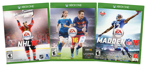 EA Sports Value Pack: NHL 16 / FIFA 16 / Madden NFL 16 (3-Pack) (Xbox One) (XBOX ONE) XBOX ONE Game