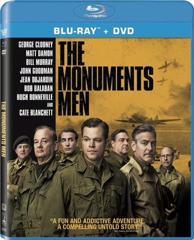 The Monuments Men (Blu-Ray +DVD +Digital HD) [Blu-ray] BLU-RAY Movie