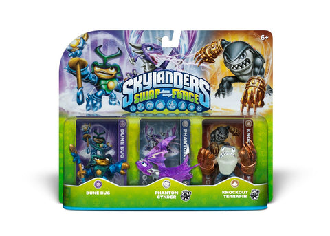 Skylanders SWAP Force Triple Character Pack - Dune Bug, Phantom Cynder, Knockout Terrafin (Toy) (TOYS) TOYS Game