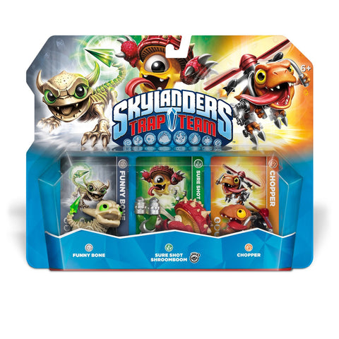 Skylanders Trap Team - Funny Bone, Chopper, & Shroomboom - Triple Character Pack (Toy) (TOYS) TOYS Game