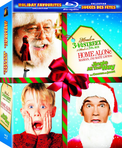 Holiday Favorites Collection (Jingle All The Way/Home Alone/Miracle on 34th Street 1994) (Blu-ray) BLU-RAY Movie