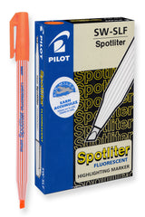 Pilot Spotliter Fluorescent Highlighters, Chisel Tip (Orange) Dozen Box