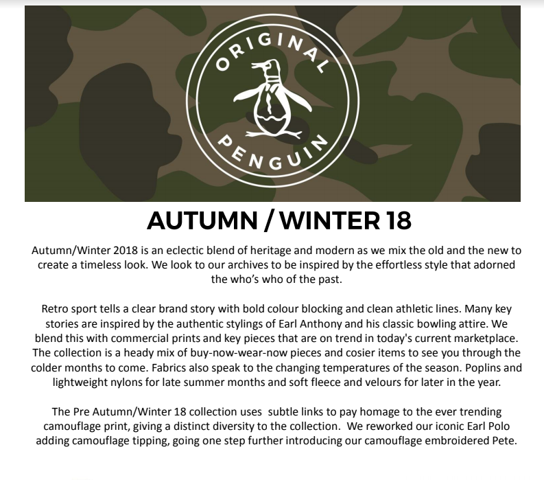 b024f24f2a3 We have dropped Original Penguin from our roster for 2019