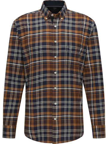 FYNCH HATTON® Premium Winter Check Shirt/Mustard - New AW20