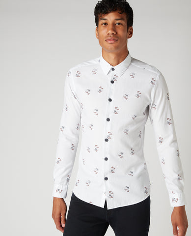 REMUS UOMO® Ashton Slim Fit Printed Shirt - New AW20