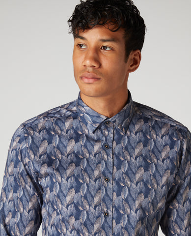 REMUS UOMO® Tapered Fit Parker Printed Shirt - New AW20