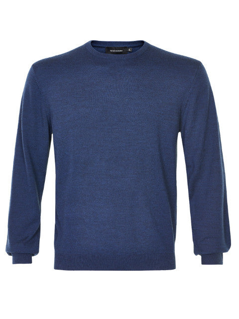 Matinique Margrate Merino Wool Crew Knit/Deep Blue