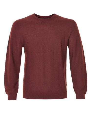 Matinique Stuart Mercerized Wool Crew Knit/Rust