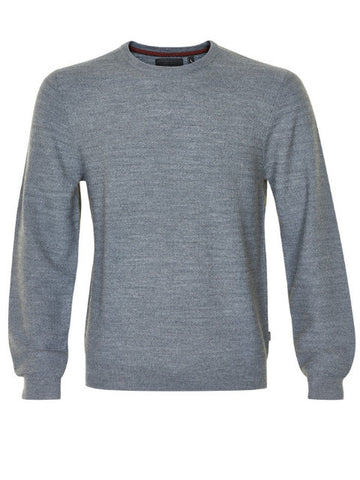 Matinique Stuart Mercerized Wool Crew Knit/Medium Grey Marl