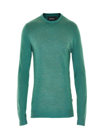 Matinique Margrate Merino Wool Crew Knit/Mallard Green - SS17 SALE