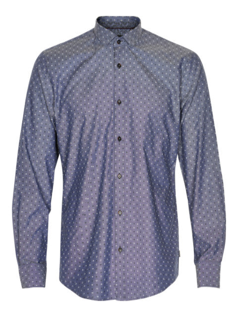 Matinique Allan Refined Oxford Print Shirt/Pattern