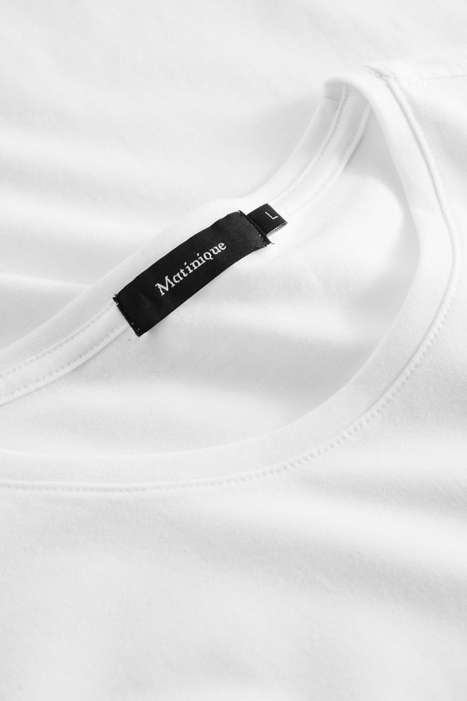 Matinique® Jermalink Cotton Stretch Crew T-Shirt/White - CORE SS20