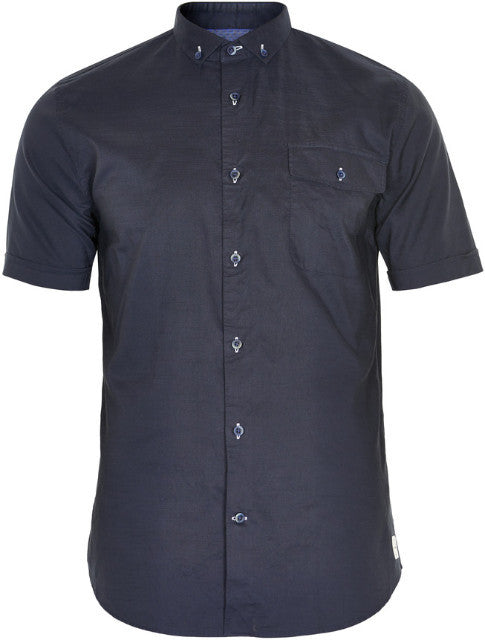 Matinique Trostol Slub Yarn Short Sleeve Shirt/Dark Navy