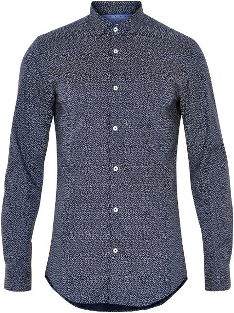 Matinique Allan Mini Paisley Shirt/Navy Blazer