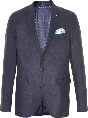 Matinique George Summer Linen Jacket/Bold Blue
