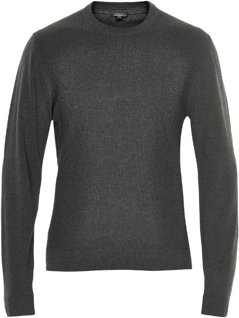 Matinique Triton Crew Neck Waffle Jumper/Dark Grey Melange