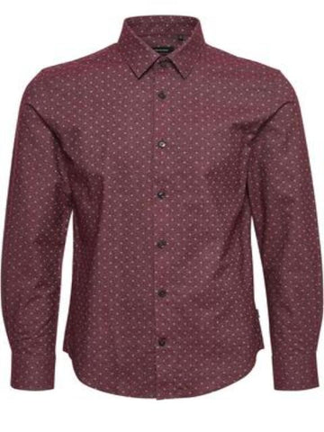 Matinique Allan Flannel Dot Shirt/Deep Wine - AW17 SALE