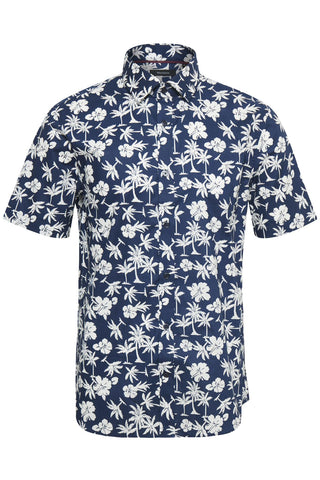 Matinique Trostol Summer Palm Print Shirt/Dark Navy - New HS20