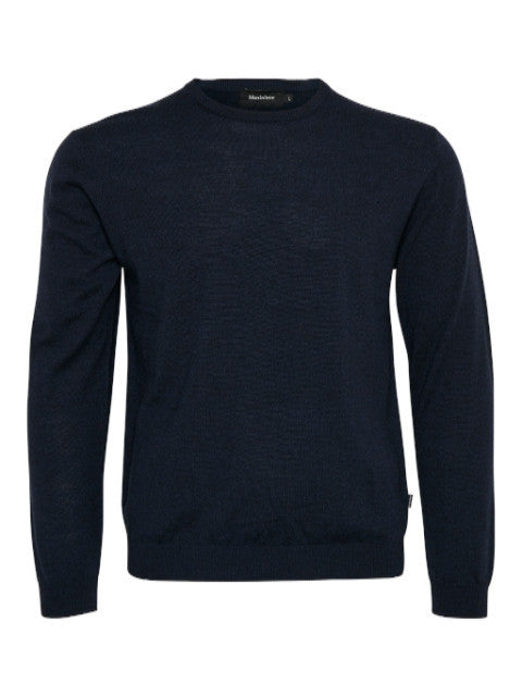 Matinique® Margrate Merino Wool Crew Knit/Navy - CORE SS21