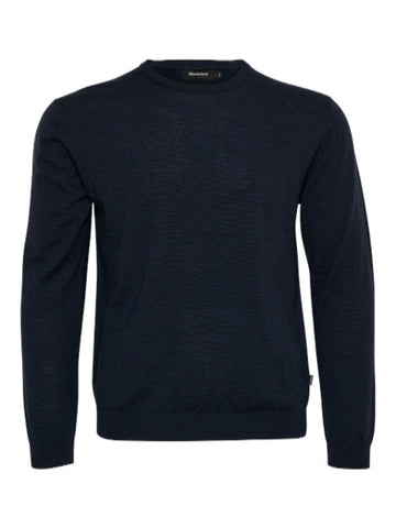 Matinique® Margrate Merino Wool Crew Knit/Navy - CORE AW19