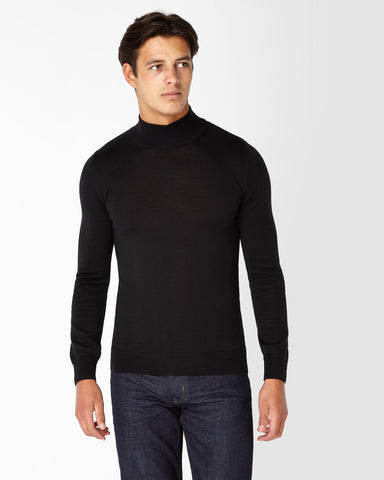 REMUS UOMO® Turtle Neck Jumper/Black - New AW19