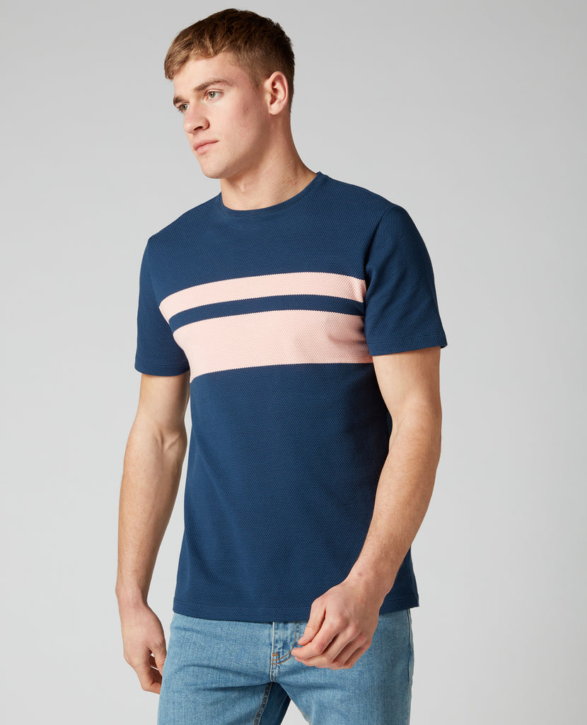 REMUS UOMO® Striped T-Shirt/Dark Blue - New SS20