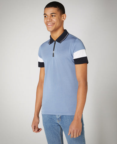 REMUS UOMO® Striped Polo Shirt/Blue - New SS21