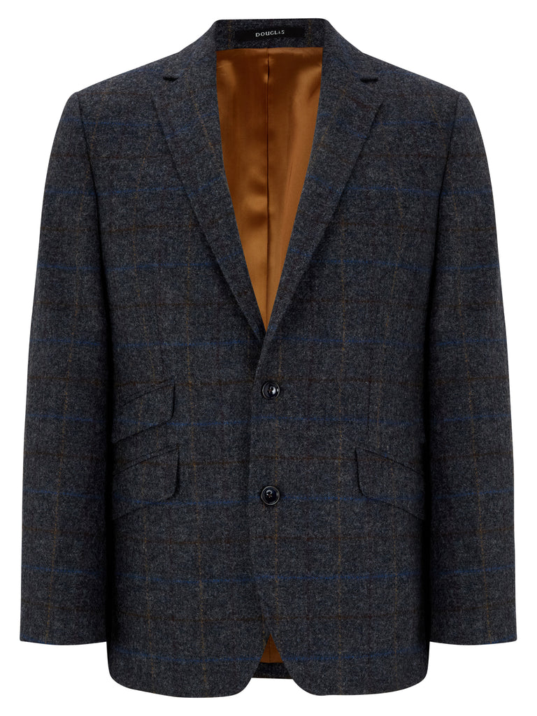 DOUGLAS® GOLD Cotswold Pure Wool Check Jacket/Blue - New AW20