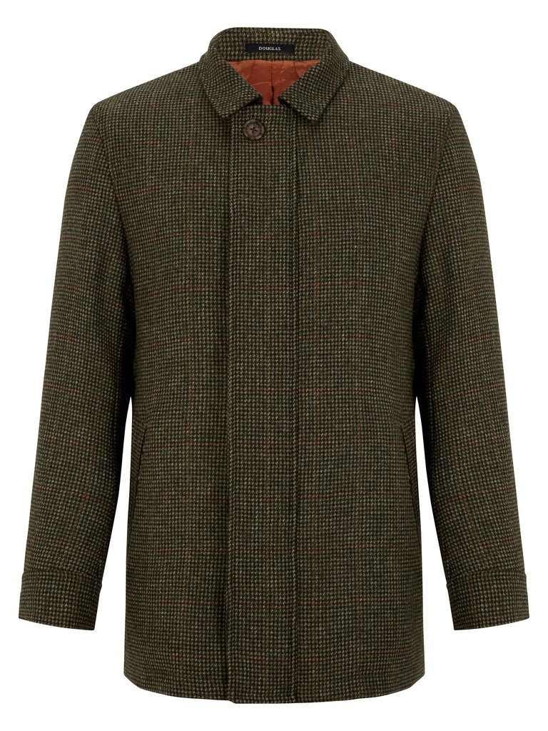 DOUGLAS® GOLD FRAMPTON Winter Check Tailored Coat/Green - New AW20