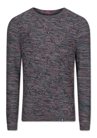 COLOURS & SONS 'SAMUEL' Argyle Jumper/Gas Combo - New AW19